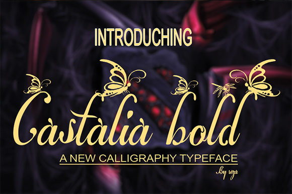 Print on Demand: Castalia Script & Handwritten Font By Rezastudio