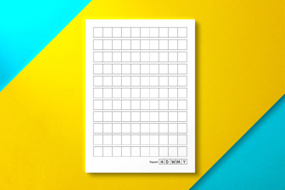 Chinese Grid Paper with Repeat Grid Graphic KDP Interiors By Nickkey Nick