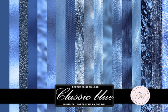 Print on Demand: Classic Blue Seamless Texture Graphic Backgrounds By The Rose Mind
