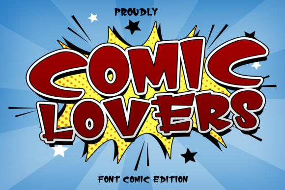 Print on Demand: Comic Lovers Display Font By Gie Studio