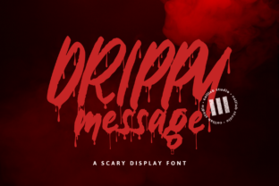 Print on Demand: Drippy Message Display Font By colllabstudio