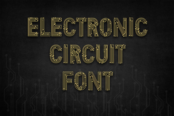 Print on Demand: Electronic Circuit Display Font By OWPictures