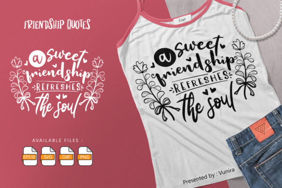 Friendship   Lettering Quotes Graphic