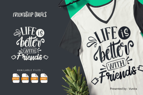 Print on Demand: Friendship | Lettering Quotes Graphic Crafts By Vunira