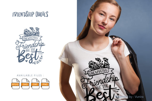 Friendship | Lettering Quotes Graphic