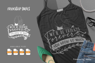 Print on Demand: Friendship | Lettering Quotes Grafik Plotterdateien von Vunira