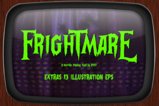 Print on Demand: Frightmare Display Font By RVST