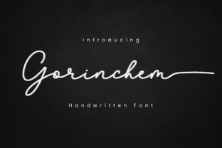 Print on Demand: Gorinchem Script & Handwritten Font By Manjalistudio