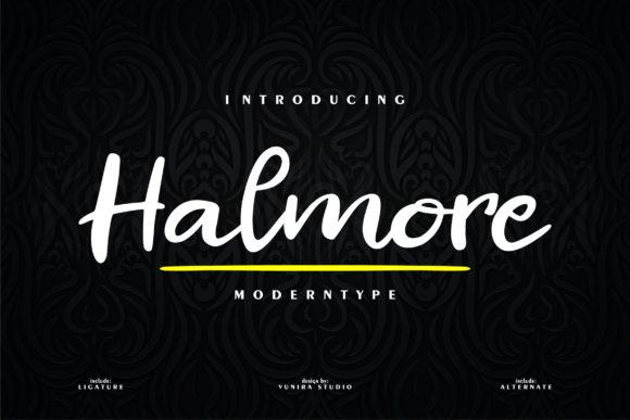 Print on Demand: Halmore Script & Handwritten Font By Vunira