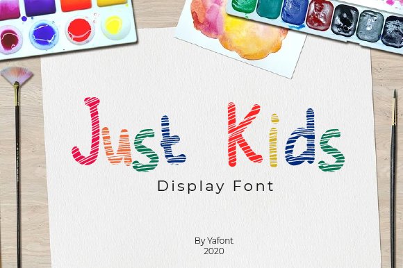 Print on Demand: Just Kids Display Font By Yafont
