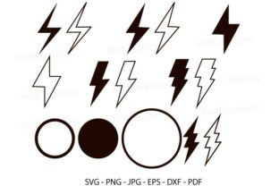 Lighting Bolt, Flash, Thunder Graphic Crafts By RedCreations