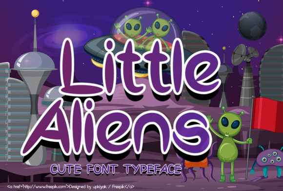 Print on Demand: Little Aliens Display Font By Sealoung