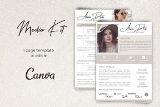 Media Kit   Canva Template Graphic Presentation Templates By Business Chic Studio