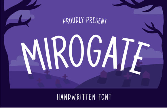 Print on Demand: Mirogate Display Font By Typefar