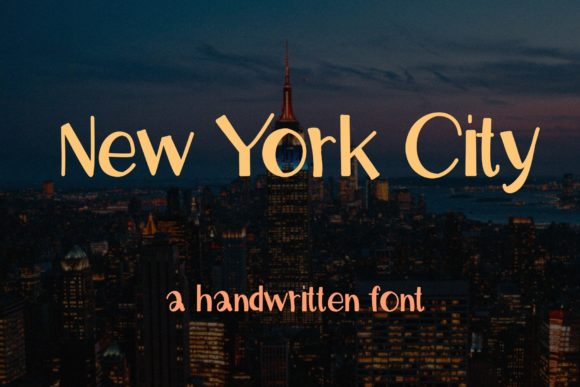 Print on Demand: New York City Script & Handwritten Font By PitchaType