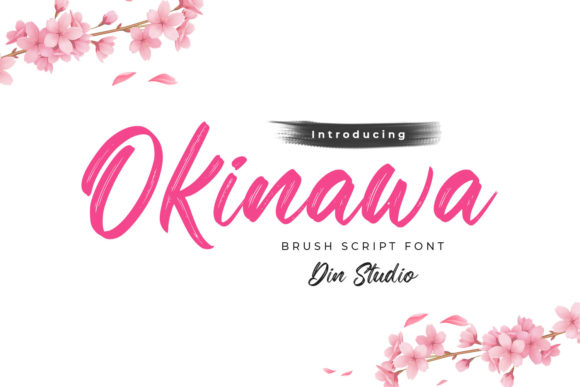 Print on Demand: Okinawa Script & Handwritten Font By Din Studio