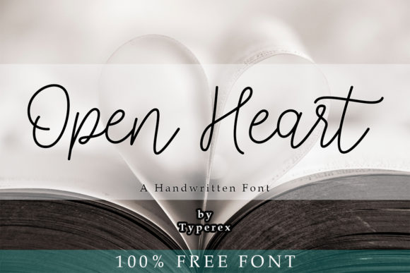 Print on Demand: Open Heart Script & Handwritten Font By Typerex