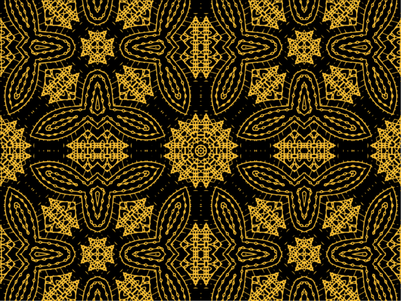 Pattern Gold Ornament Set 459 Graphic Patterns By studiopayon