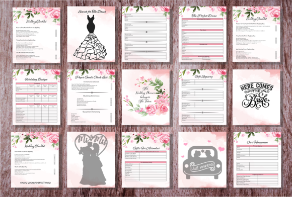 Print on Demand: Printable Wedding Planner Graphic KDP Interiors By design-world