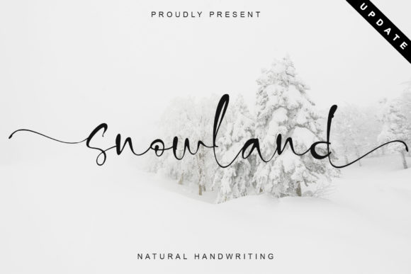Print on Demand: Snowland Script & Handwritten Font By thomasaradea