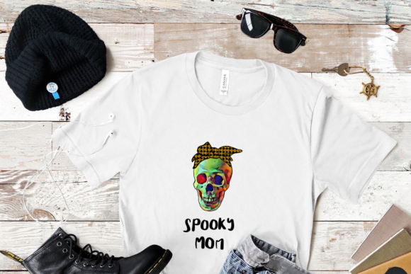 Spooky Mom Skull Sublimation PNG Design, Graphic Print Templates By CSDesign