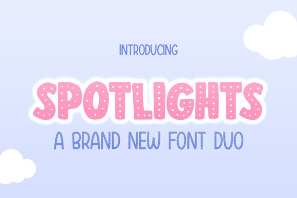 Print on Demand: Spotlights Display Font By Salt & Pepper Designs