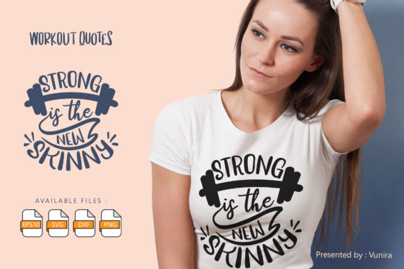 Strong is the New Skin | Lettering Quote Graphic