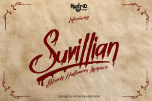 Print on Demand: Suvillian Display Font By Hydric Design