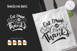 Print on Demand: Thanksgiving | Lettering Quotes Graphic Crafts By Vunira
