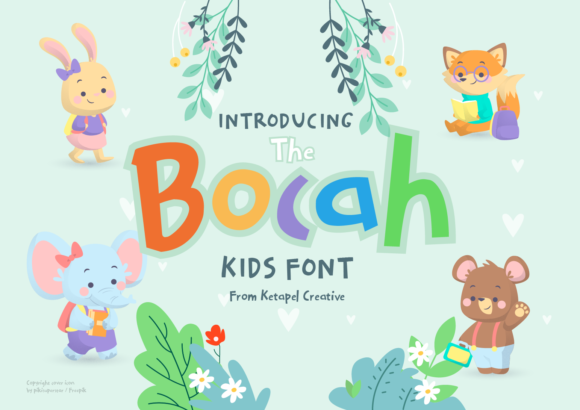 Print on Demand: The Bocah Display Font By ketapelcreative