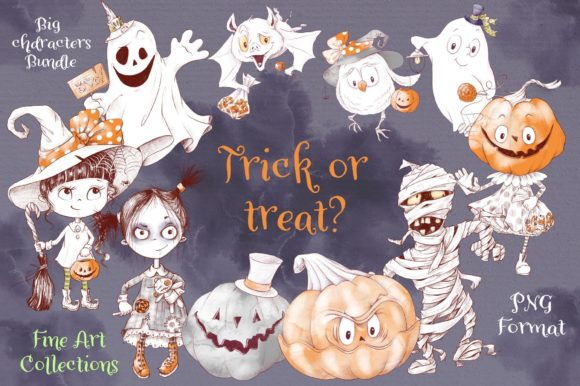 Print on Demand: Trick or Treat? Grafik Illustrationen von nicjulia