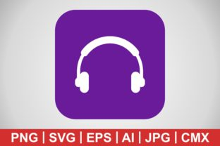 Print on Demand: Vector Headphones Icon Grafik Icons von IYIKON