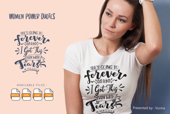 Print on Demand: Woman | Lettering Quotes Grafik Plotterdateien von Vunira