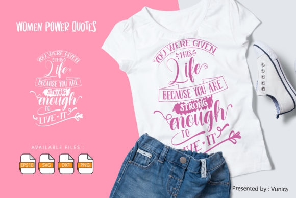 Print on Demand: Woman | Lettering Quotes Gráfico Crafts Por Vunira