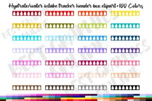 100 Hydrate Tracker Header Box Clipart Graphic Print Templates By bestgraphicsonline