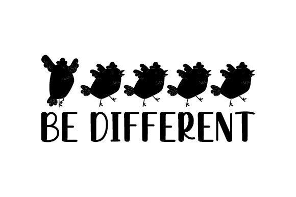 Be Different Designs & Drawings Craft Cut File By Creative Fabrica Crafts - Image 2