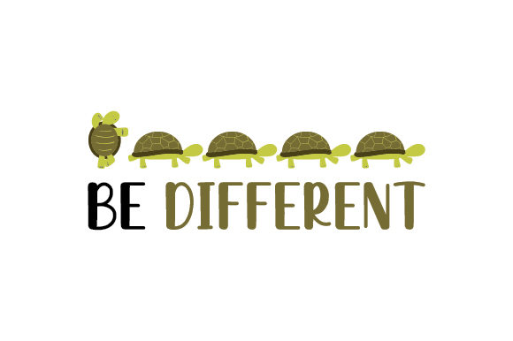 Be Different Designs & Drawings Craft Cut File By Creative Fabrica Crafts - Image 1