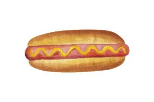 Hot Dog Food & Drinks Craft Cut File By Creative Fabrica Crafts