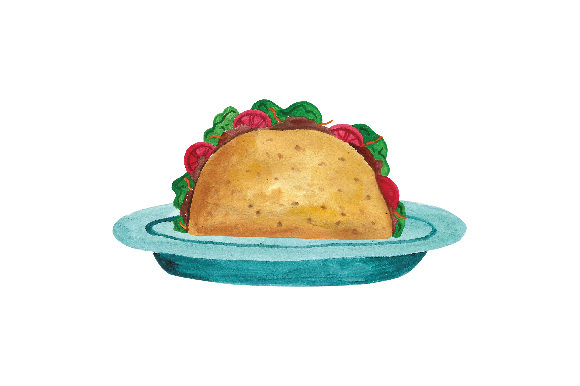 Taco Plate Food & Drinks Craft Cut File By Creative Fabrica Crafts
