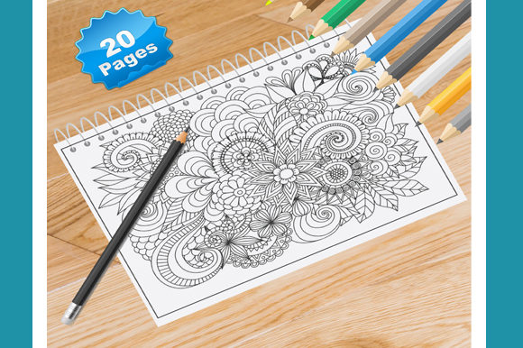 Print on Demand: 20 Adults Flower Coloring Pages Graphic Coloring Pages & Books Adults By Coloring World