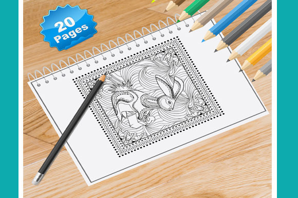 20 Christmas Coloring Pages for Adults Graphic Coloring Pages & Books Adults By Coloring World - Image 1