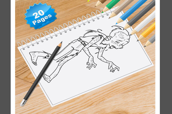 20 Zombie Coloring Pages Graphic Coloring Pages & Books By Coloring World