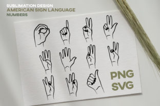 Print on Demand: ASL American Sign Language Numbers Graphic Icons By Inkclouddesign