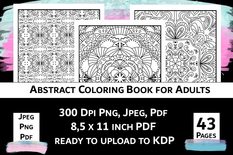 Abstract Coloring Book For Adults Vol.1 Graphic By Fleur De Tango ·  Creative Fabrica
