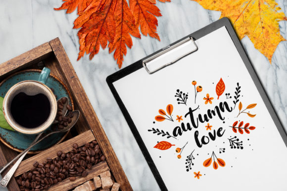 Autumn Scene Mockup #9 Graphic Product Mockups By Relineo