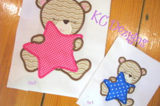 Baby Girl Bear with Star Boys & Girls Embroidery Design By karen50