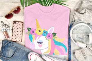 Print on Demand: Beautiful Floral Unicorn Designs Graphic Illustrations By JM_Graphics 3