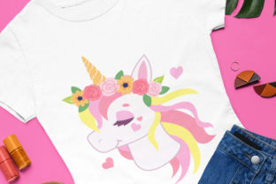 Print on Demand: Beautiful Floral Unicorn Designs Graphic Illustrations By JM_Graphics 4