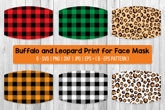 Buffalo and Leopard Print for Face Mask Graphic Crafts By All About Svg