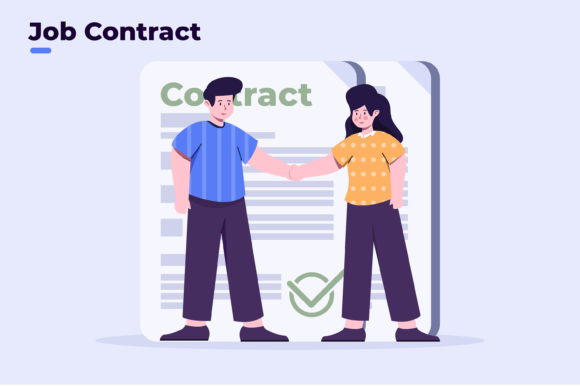 Business Partnership Contract Flat Style Graphic Illustrations By Delook Creative